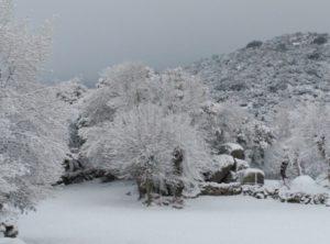 Nieve en hotel La Trocha